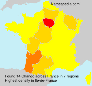 Surname Chango in France