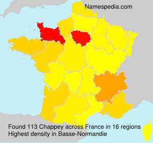Surname Chappey in France