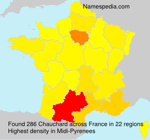 Surname Chauchard in France