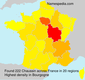 Surname Chaussin in France