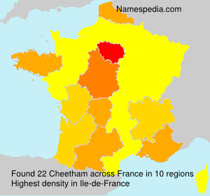Surname Cheetham in France