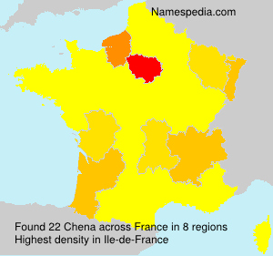 Surname Chena in France
