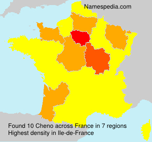 Surname Cheno in France