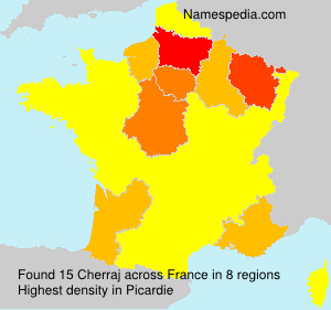 Surname Cherraj in France