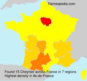 Surname Cheynier in France
