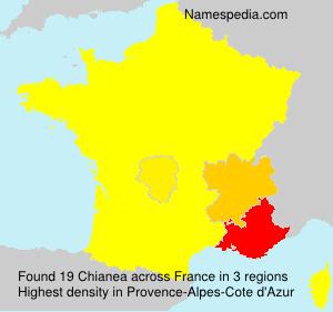 Familiennamen Chianea - France