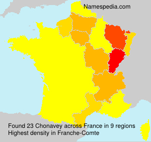 Surname Chonavey in France
