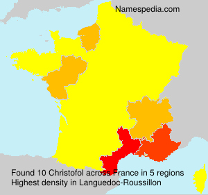 Surname Christofol in France