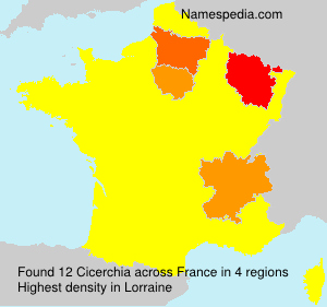 Surname Cicerchia in France