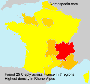 Surname Cieply in France