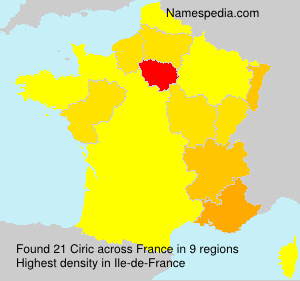 Surname Ciric in France