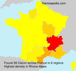 Surname Claron in France