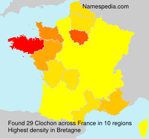 Surname Clochon in France