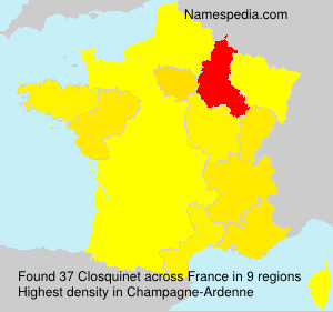 Surname Closquinet in France