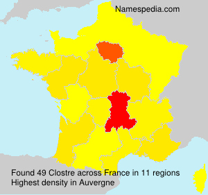 Surname Clostre in France