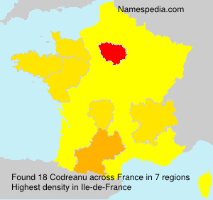 Surname Codreanu in France