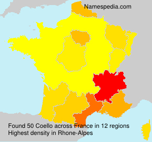 Surname Coello in France