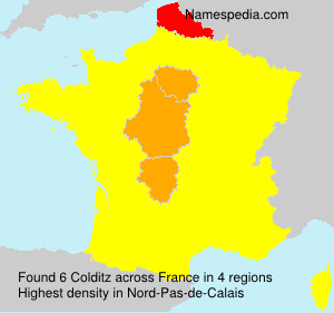 Surname Colditz in France