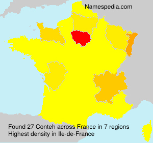 Surname Conteh in France