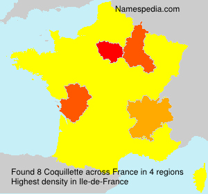 Surname Coquillette in France