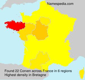 Corven - Names Encyclopedia