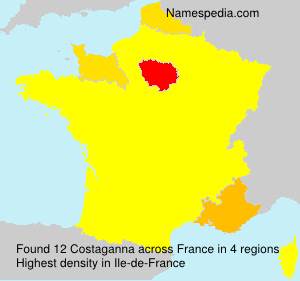 Surname Costaganna in France