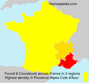 Surname Coundouris in France