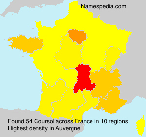 Surname Coursol in France