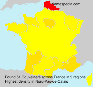 Surname Couvelaere in France