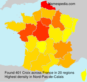 Surname Croix in France