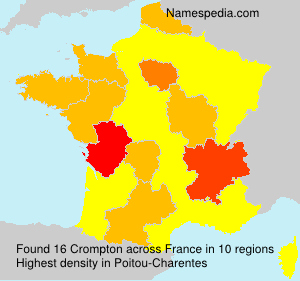 Surname Crompton in France