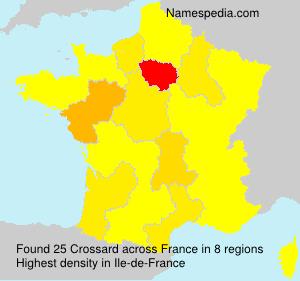 Surname Crossard in France