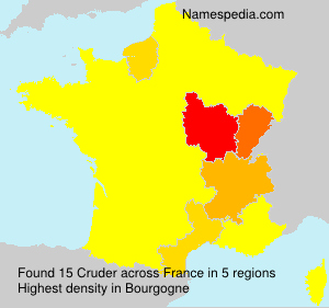 Surname Cruder in France