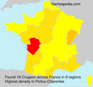 Surname Crugeon in France