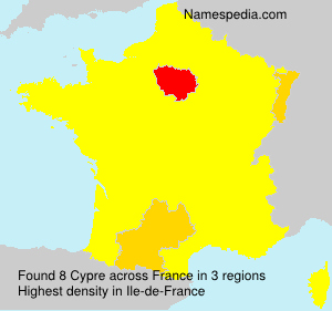 Surname Cypre in France