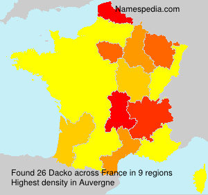 Surname Dacko in France