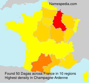 Surname Dagas in France