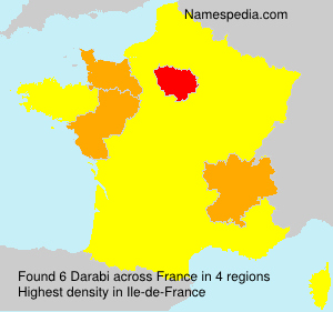 Familiennamen Darabi - France