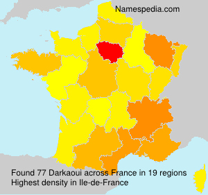 Surname Darkaoui in France