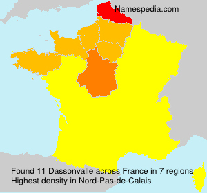 Surname Dassonvalle in France