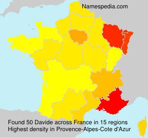 Surname Davide in France