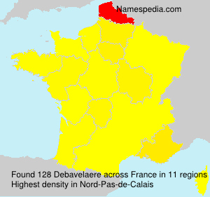 Surname Debavelaere in France