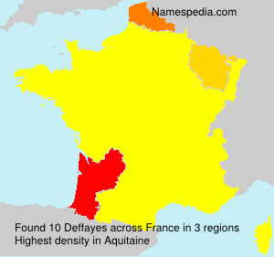 Surname Deffayes in France