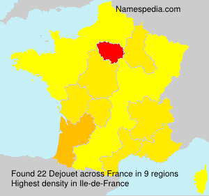 Surname Dejouet in France