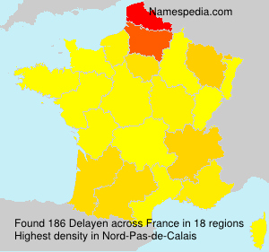 Surname Delayen in France