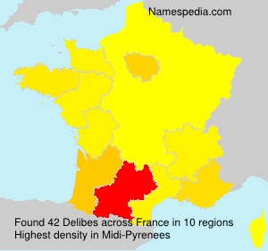 Surname Delibes in France