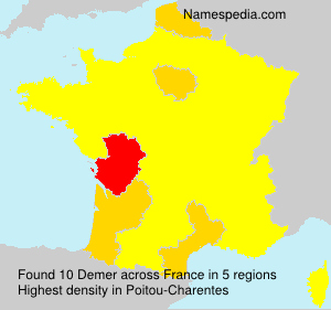 Surname Demer in France