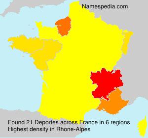 Familiennamen Deportes - France