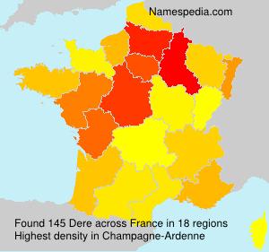 Familiennamen Dere - France