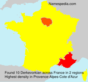 Familiennamen Derkevorkian - France